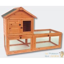 Énorme clapier ou cabane à rongeur 2 étages avec espace
