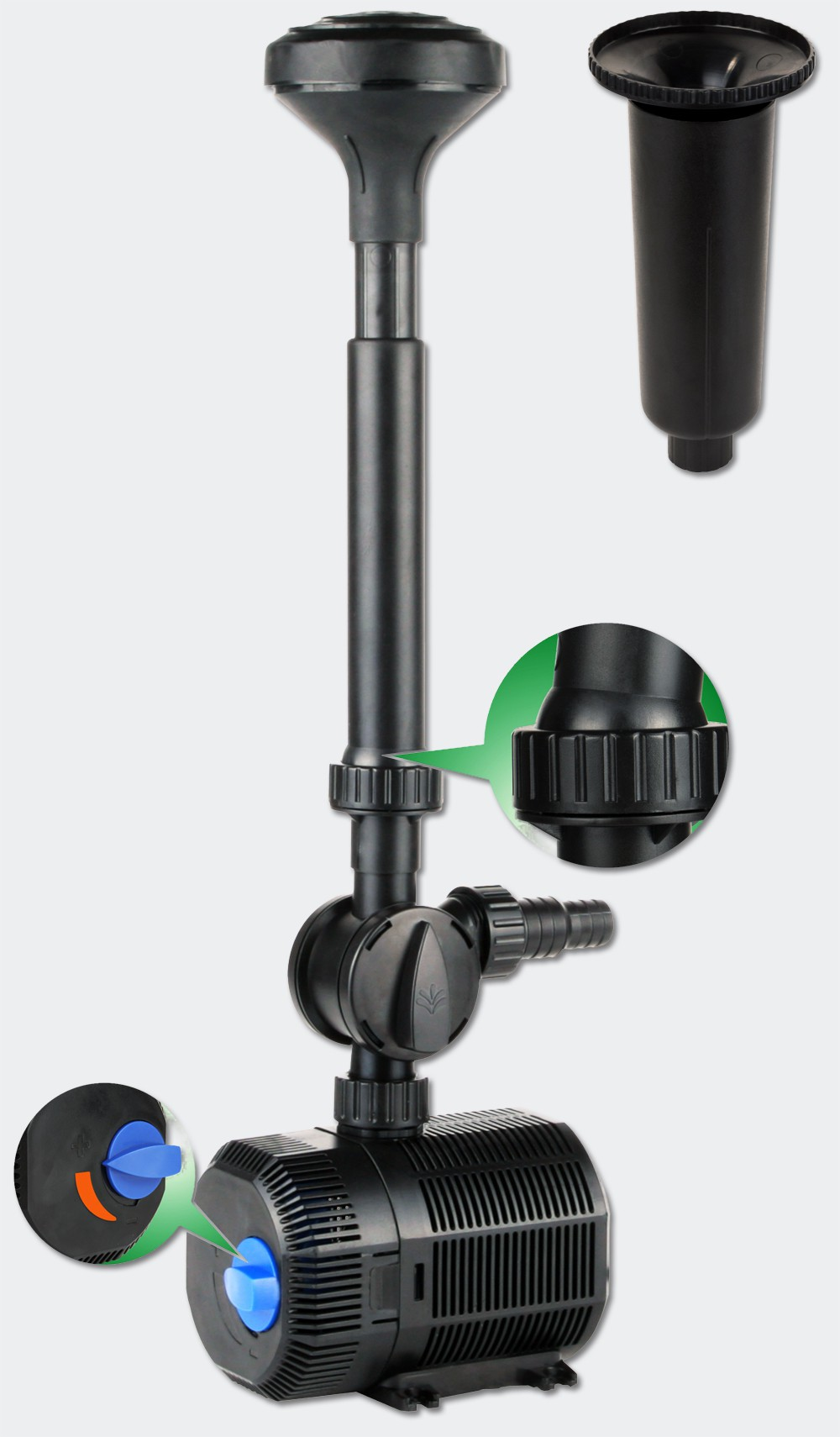 Pompe pour petite fontaine 2300 l/h : Garantie 1 an