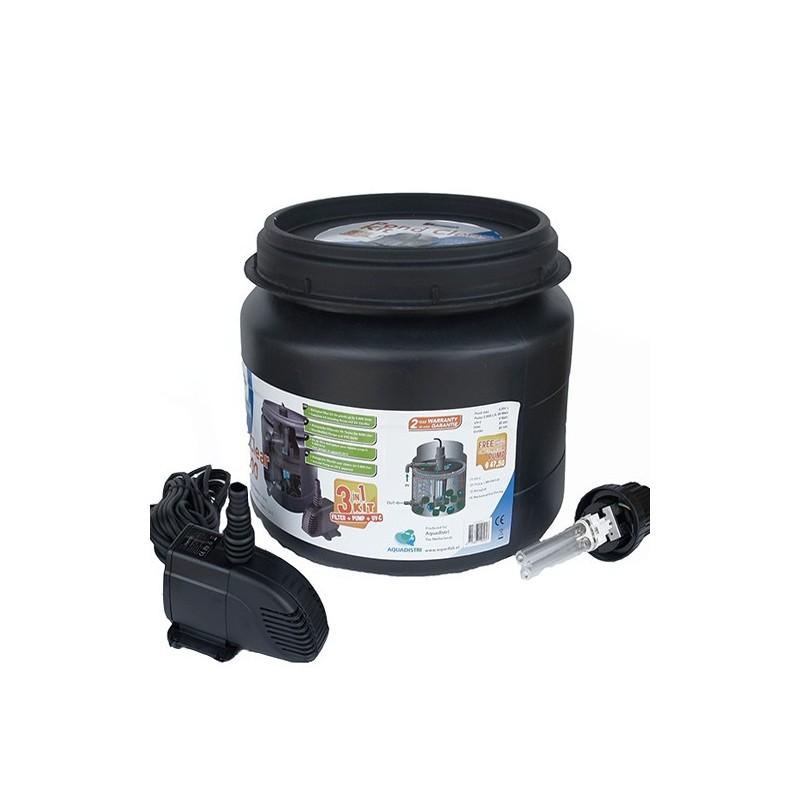 Promo filtre complet avec uv et pompe pour bassins de 5000 for Pompe a poisson pour bassin