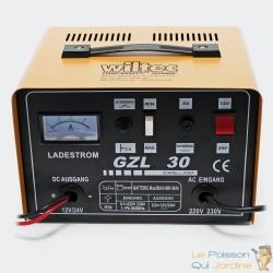 Chargeur 16A de batterie rapide - GLZ30 - Batteries 12V et 24V