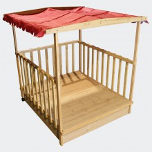 Bac à sable maison avec tonnelle  jeu de jardin 138 cm