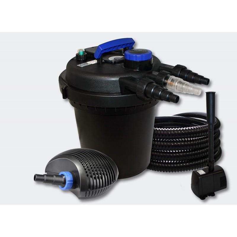kit filtre pression complet fontaine pour bassins de 6000 l 055442 aqua occaz. Black Bedroom Furniture Sets. Home Design Ideas
