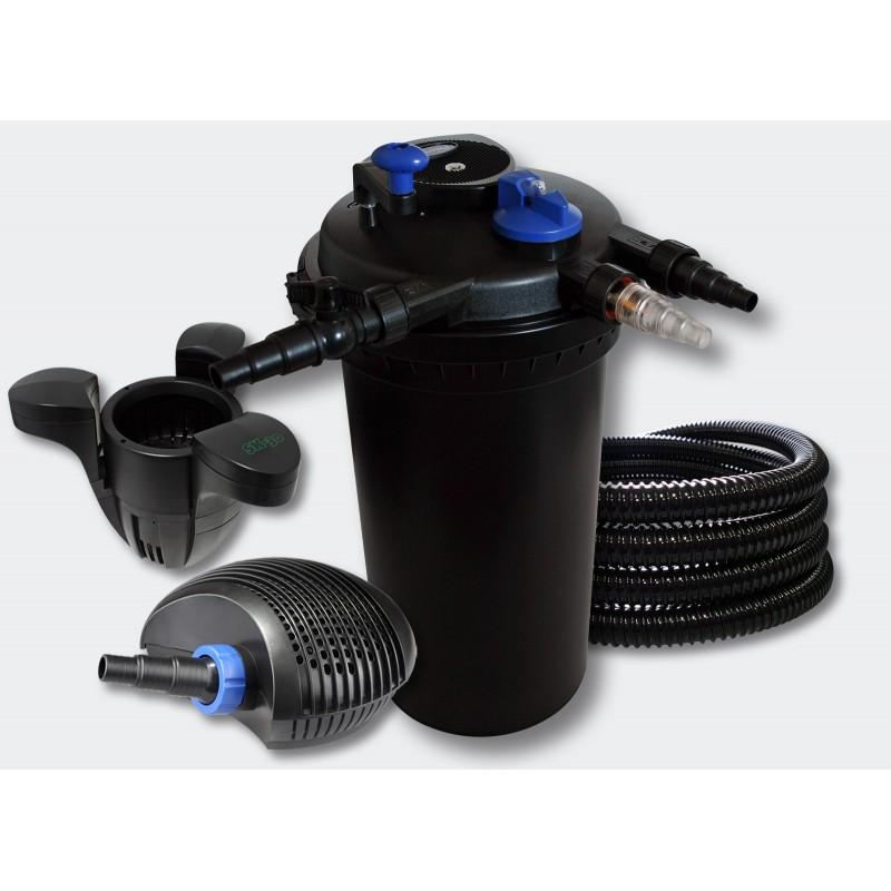 Kit filtre pression cumeur pour bassins de 30000 l pompe for Pompe et filtre pour bassin exterieur