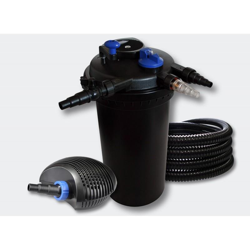 Kit filtre pression complet pour bassins de 30000 l pompe for Filtre pour bassin de jardin