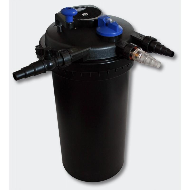 Kit filtre pression complet pour bassins de 30000 l pompe for Pompes et filtres pour bassins de jardin
