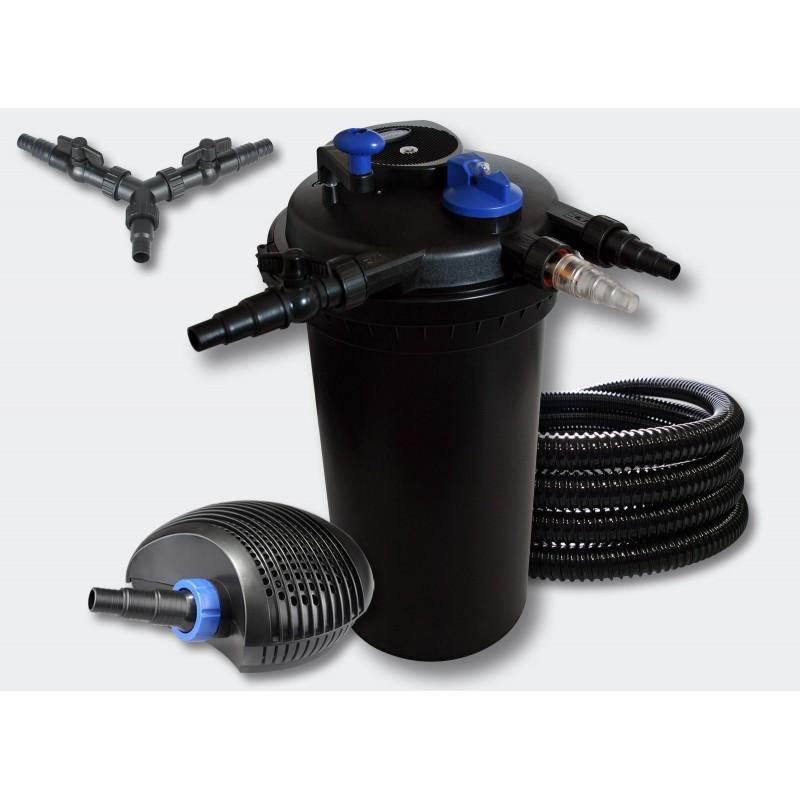 kit filtre pression complet pour bassins de 30000 l pompe 8000 055496 aqua occaz. Black Bedroom Furniture Sets. Home Design Ideas