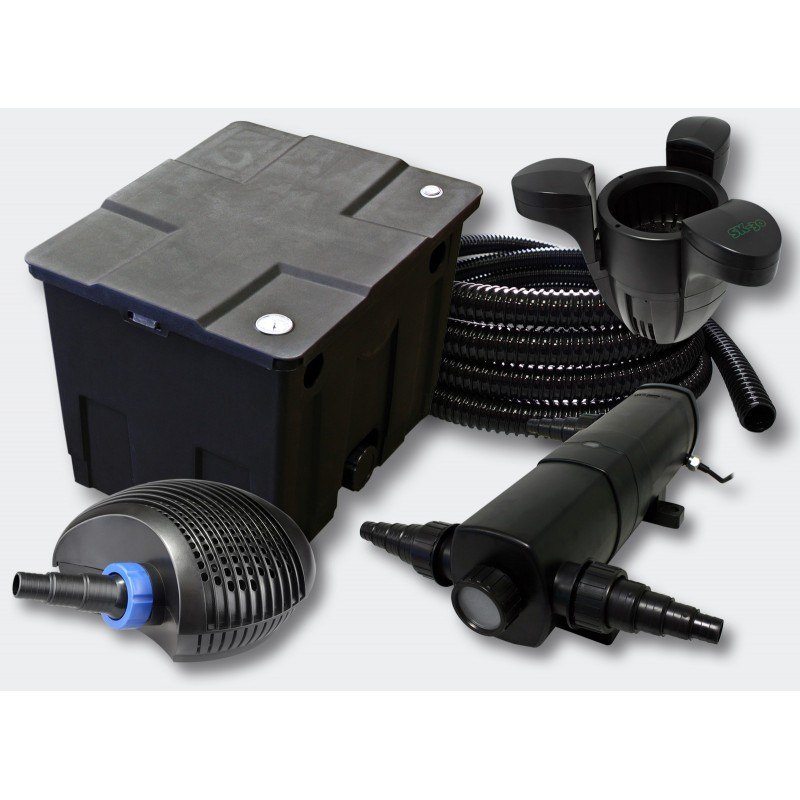 kit filtration complet 36w cumeur pour bassins de 12000 l aqua occaz. Black Bedroom Furniture Sets. Home Design Ideas