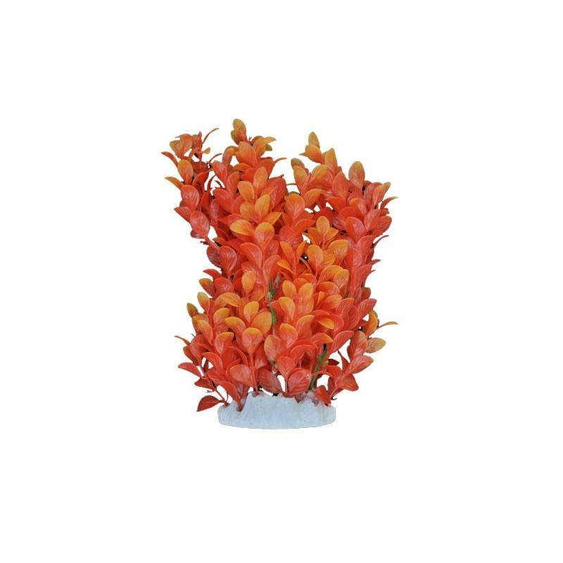 Plante plastique orange pour aquarium 20 cm aqua occaz for Plante orange