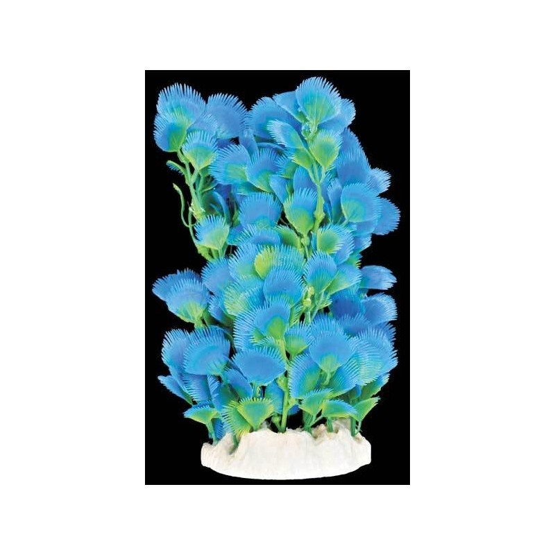 Plante plastique bleue pour aquarium 20cm aqua occaz for Plante pour aquarium