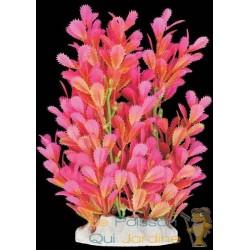 Plante plastique Rose et verte pour aquarium : 20cm