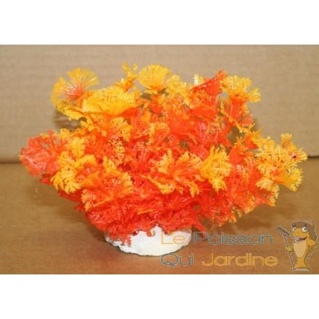Plante plastique orange pour aquarium 10cm aqua occaz for Plante orange