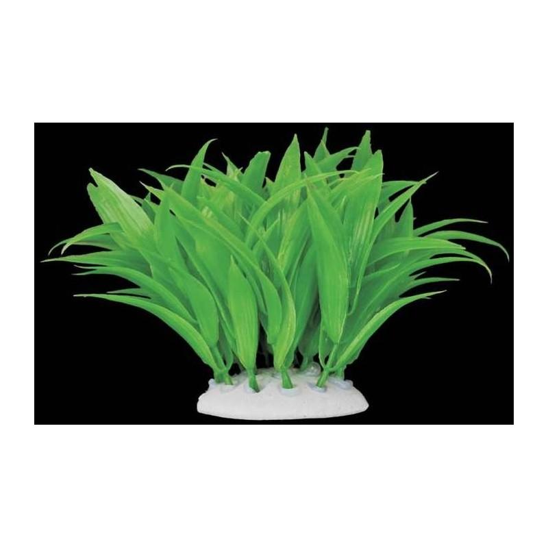 Plante plastique verte longues feuilles pour aquarium for Plante plastique exterieur