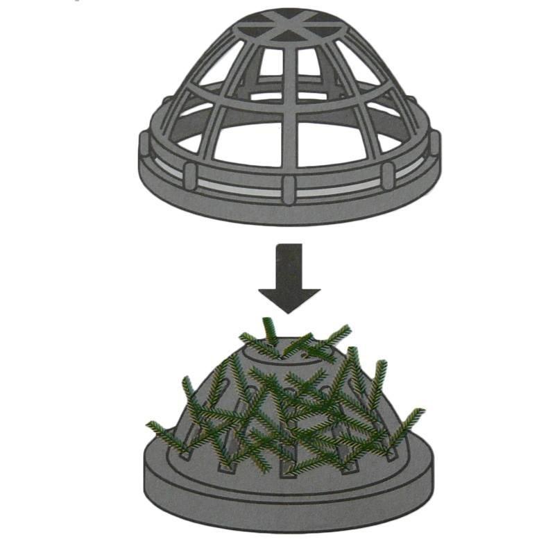 Dome support de plante d 39 aquariums d coration aqua occaz - Support de plante ...